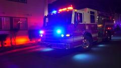 Fire Truck Panning Shot Stock Footage