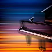 Stock Illustration of abstract grunge piano background with grand piano