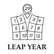 Leap year illustration - stock illustration