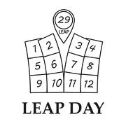 Leap day illustration - stock illustration