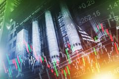 Stock Exchange Concept Illustration. New York Stock Exchange - stock photo