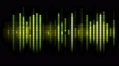 Sound Wave Led Music Graphics - stock footage