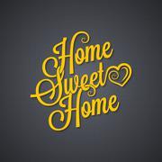 Sweet home vintage lettering background Stock Illustration