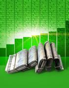 Positive Market Money - stock illustration