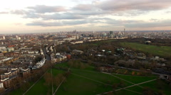 Aerial Urban View of London City Stock Video - 4K Stock Footage