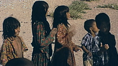 Iran 1973: children waiting for tourists Stock Footage