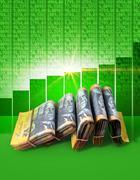 Positive Market Money Stock Illustration