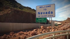 Nevada Broll with Hoover Dam - stock footage