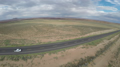 Cars Driving Down Arizona Highway 64 Stock Footage