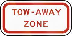 United States MUTCD regulatory road sign - Tow away zone Stock Illustration