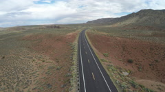 Arizona Highway 64 with No Cars Stock Footage