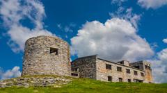 Chernogora castle scene, ukraine carpathian Stock Footage