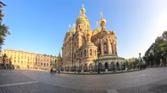 The Church of Our Savior on Spilled Blood in Saint Petersburg Stock Footage