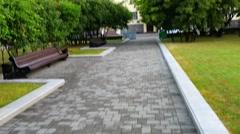 Independence Avenue in Minsk, Belarus Stock Footage