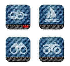Active recreation icon set - stock illustration