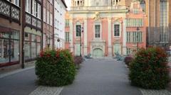 Royal Catholic Chapel in Gdansk, Poland Stock Footage