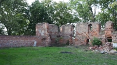 Ruins around Galeria EI Centrum in Elblag, Poland Stock Footage