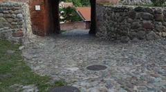Teutonic Castle in Paslek, Poland Stock Footage