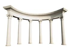 Ancient Greek columns - stock illustration