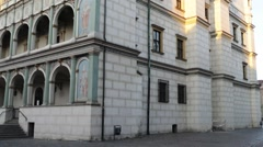 Town Hall or Ratusz in Poznan, western Poland Stock Footage