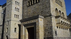 Imperial Castle in Poznan is palace in Poland Stock Footage