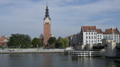 St. Nicholas Cathedral in Elblag, Poland Stock Footage