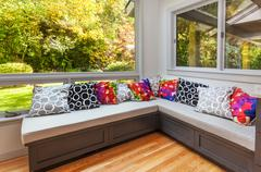 Kitchen window seat - stock photo