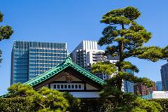 Imperial Palace East Gardens in Tokyo, Japan Stock Photos
