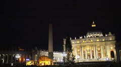 Papal Basilica of St. Peter in Vatican City Stock Footage