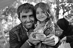 Refugees in Babska (Serbian - Croatina border) Stock Photos