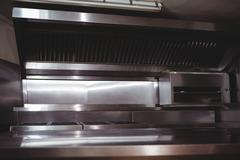 Deep fat fryers in commercial kitchen Stock Photos