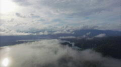 Ban Wang Khon, Surat Thani, Through Clouds, Sun, Cloudy Skys Stock Footage