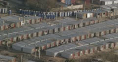Temporary housing in Johannesburg Stock Footage