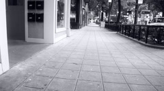 Slide Shot of Downtown Greenville SC Stock Footage