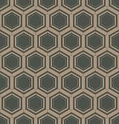Abstract geometric linear hexagons seamless pattern Stock Illustration