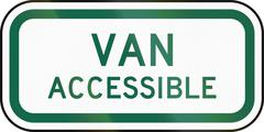 United States MUTCD road sign - Van accessible parking - stock illustration