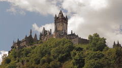 A view of an ancient castle from the ship Stock Footage