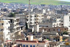 Ruins of Kobane - stock photo