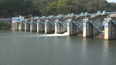 Small dam in South Korea Stock Footage