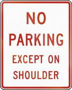 United States MUTCD regulatory road sign - No parking Stock Illustration