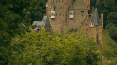A top view of an old European castle - stock footage