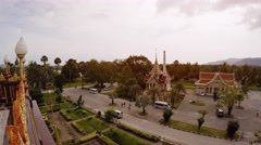 View from atop Wat Chalong in Phuket, Thailand. UHD video Stock Footage