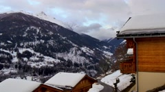 Alps holiday cottage Stock Footage