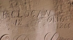 Historic elegant inscriptions Stock Footage