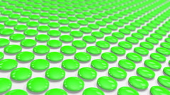 A looped a motion tween green of tablets Stock Footage