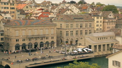 A European city, old buildings Stock Footage