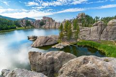 Beautiful Sylvan Lake Stock Photos