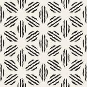 Vector Seamless  Geometric Petal Stripes Pattern Stock Illustration