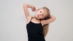Little girl with blond hair Stock Footage