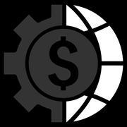 World Industry Finances Flat Vector Icon Stock Illustration